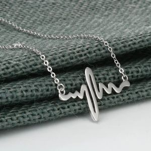 Jewelry - Silver Heartbeat Frequency Necklace